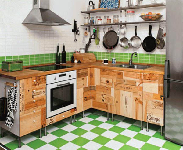 Do It Yourself Kitchen Cabinets Made From Wine Crates