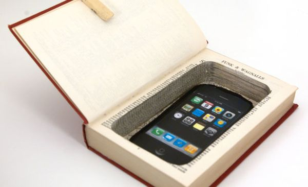 iPhone or Cell Phone Hollow Book Safe