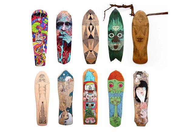 Old Skateboards Amazing Artwork