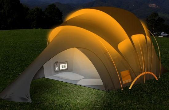 orange tent