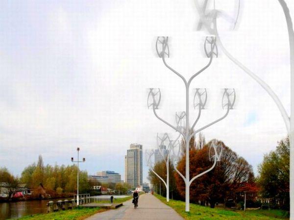 Power Flower Wind Turbine Trees
