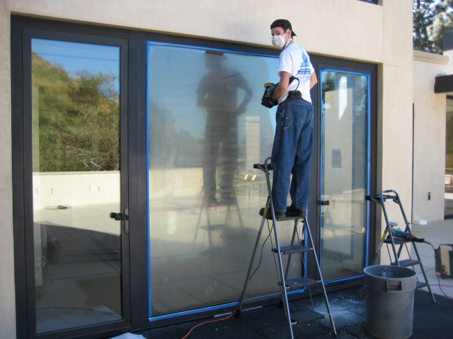 removal of glass scratches