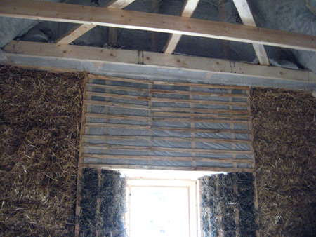 straw bale blow in insulation