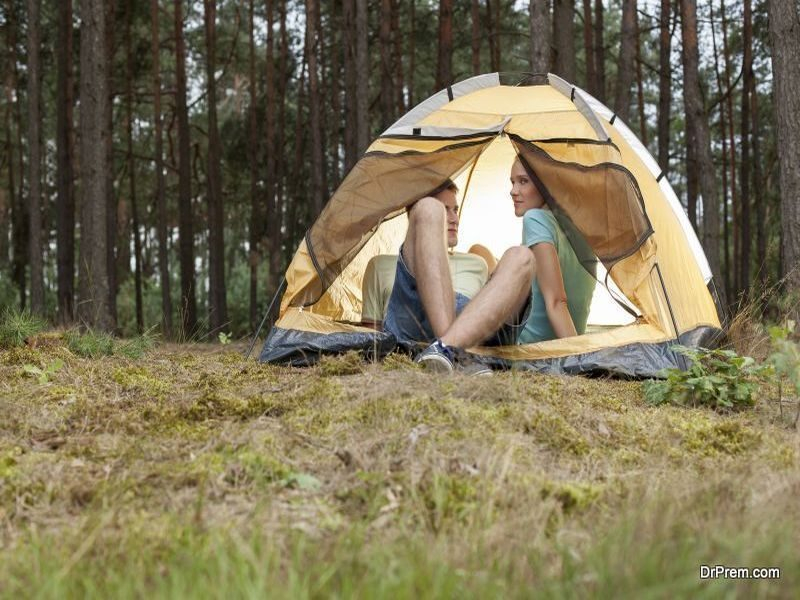 eco friendly camping trip
