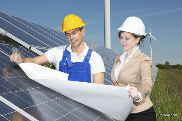 saving power and using solar energy
