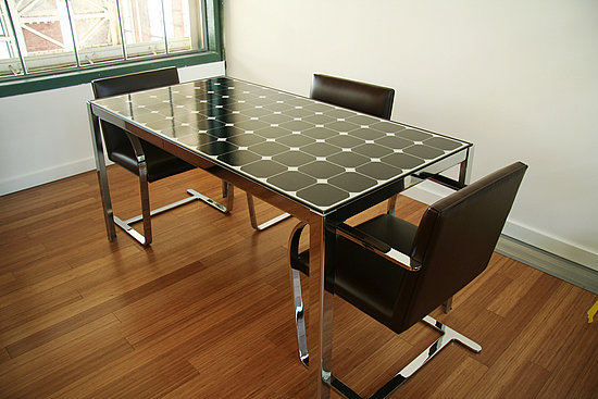 Solar Power Executive Table Makes For Green Business
