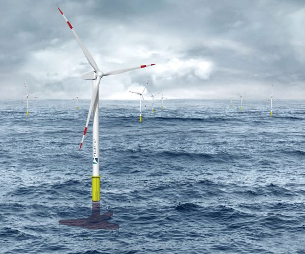 A deep sea wind farm