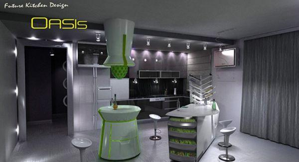 A futuristic concept Oasis Kitchen