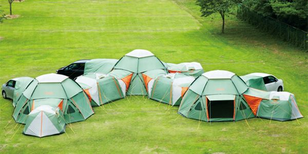 A Modular Tent System by Logos