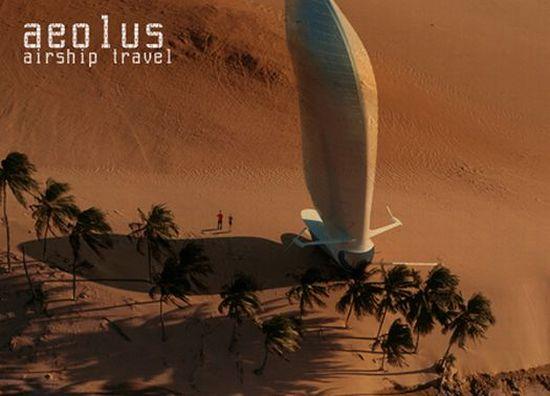 Eco transportation aeolus airship aerodynamic helium powered air