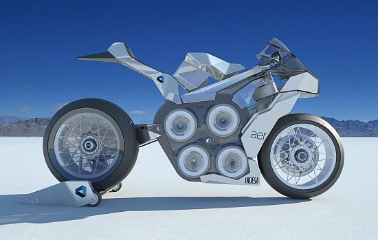 aer all electric racing motorcycle by andre federi