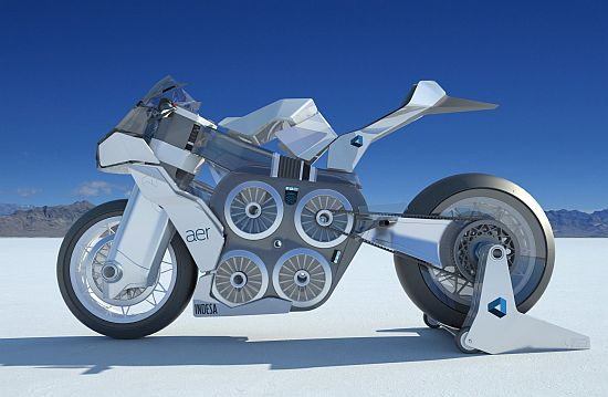 Aer Concept Racing Motorcycle Is Powered By Four Electric