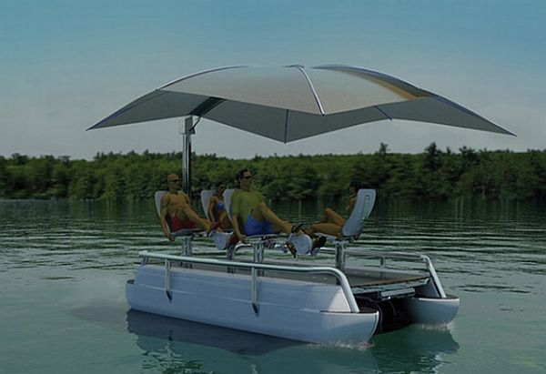 Amazing pedal powered boats