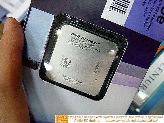 AMD launches energy-efficient Phenom X3 processor