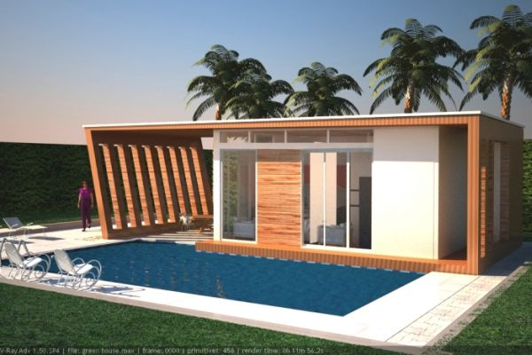 An eco friendly wooden dwelling concept by Batte Ronald