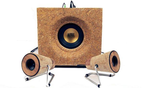 bass fiber speakers: sound of organic tunes - ecofriend