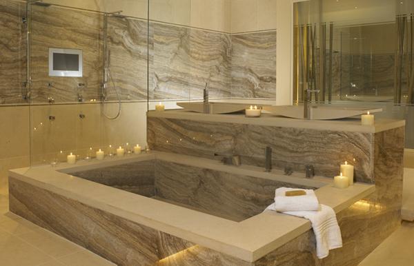 Best eco friendly bathroom layout designs ecofriend for Bathtub materials