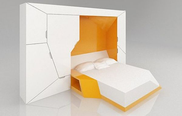 bedroom in a box compact design that aims at maximizing space