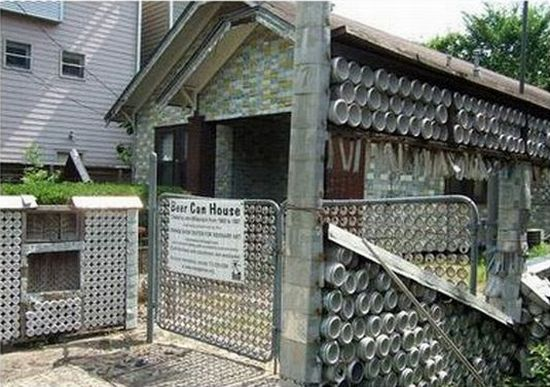 Amazing Beer Can House Treasure From Trash Ecofriend Home Interior And Landscaping Mentranervesignezvosmurscom
