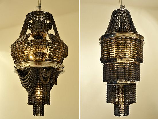 In photos chandeliers made from recycled materials ecofriend bike chain lamp 3 hkibj 69 mozeypictures Images