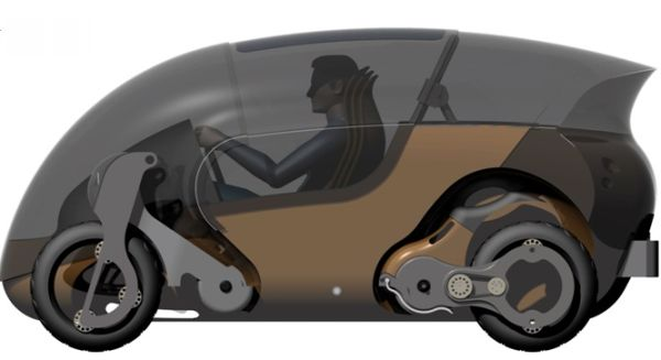 Bimoped electric vehicle concept