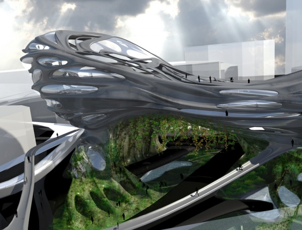 Praxis of flow green architecture inspired by evolution for Construction bio