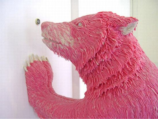 bizarre chewing gum sculptures