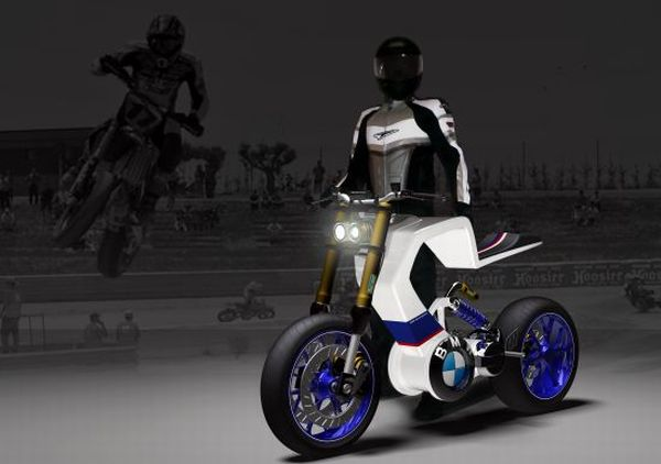 BMW E 100R electric motorcycle concept