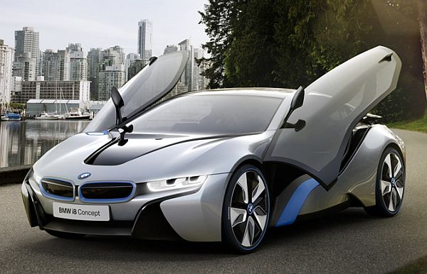 Bmw The German Automobile Behemoth Has Taken Curtains Off Its Hybrid Supercar I8 Vehicle Promises A Sporty Ride With Reduced Emissions And