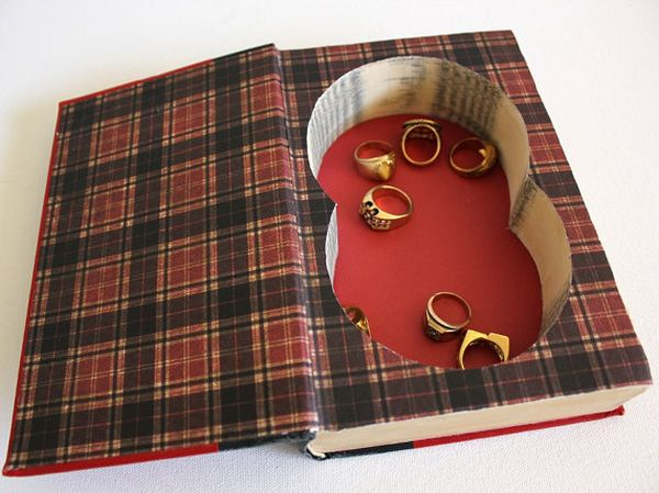 Book Safe, recycled hardcover book
