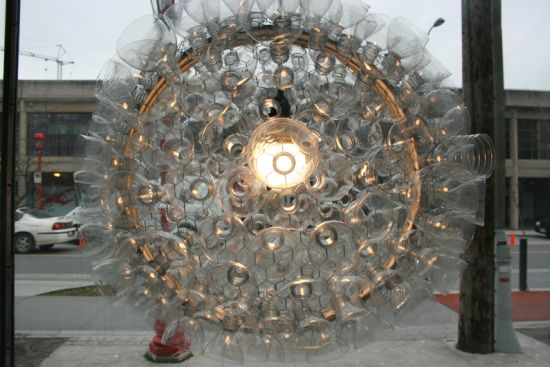Eco Arts Bottle Chandelier gives new life to used plastic bottles – Plastic Bottle Chandelier