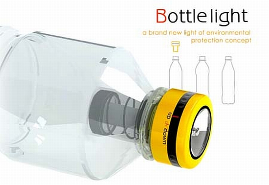 Eco Gadgets Bottle Light Says No To Batteries And Yes To