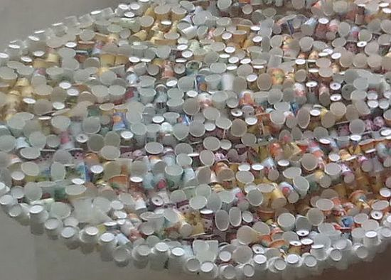 butterfly sculpture created from paper cups 3