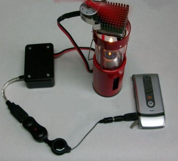 Candle Powered USB Charger