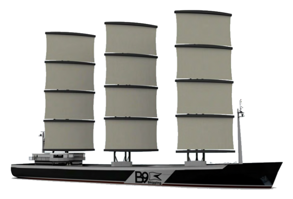 Carbon-Neutral Sail-Powered Cargo Ship