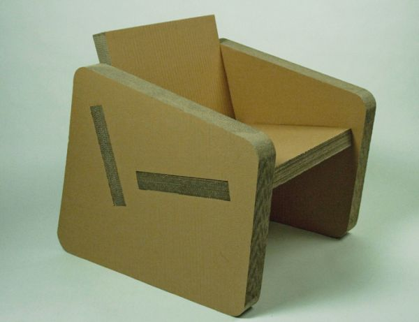 Corrugated Cardboard Chair designers create cardboard chair with sustainable materials and