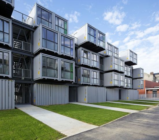Cit a docks student dormitory made from shipping for Metal piers for housing