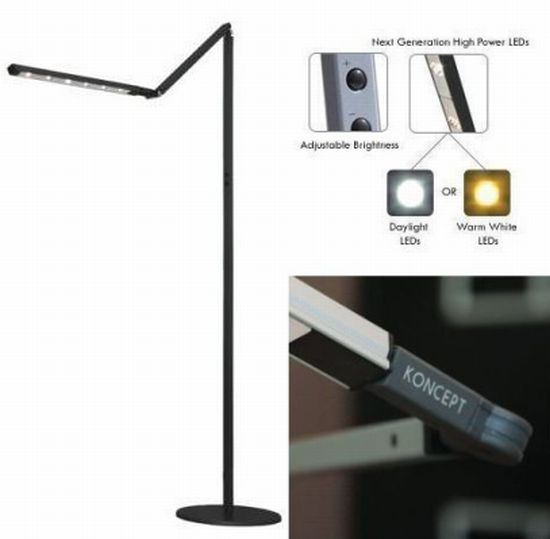 High-power I-Tower LED Floor Lamps from Koncept