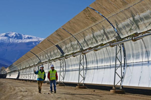 Commercial solar power plant at Andasol