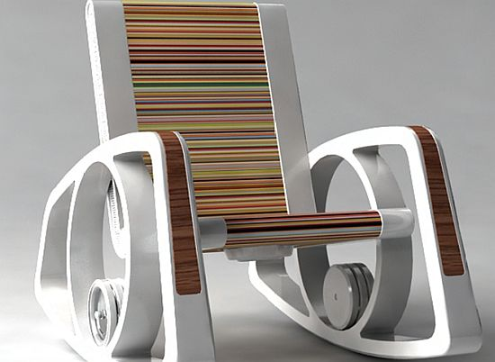 Concept Rocking Chair Harnesses Movement To Generate