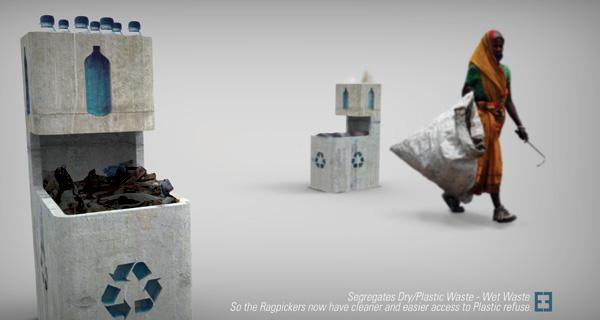 Concrete Rubbish Bin