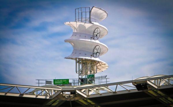 Corkscrew wind turbine