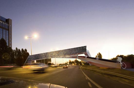 Eco Architecture Cross Wind Bridge Generates Wind Energy