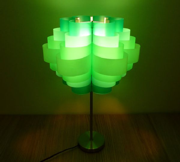 Daisy 12 a retro lampshade made using recycled plastic for Creative use of waste plastic bottles