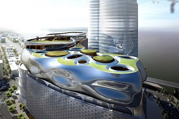 Roof garden concept to give Lotte Department Store a 'green' look ...