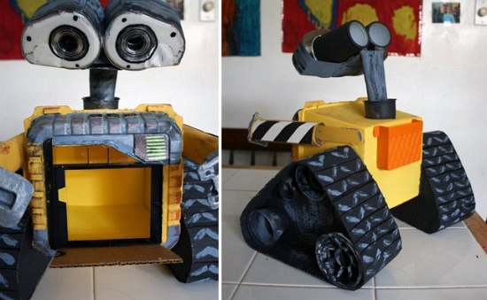 how to make a moving robot out of household items