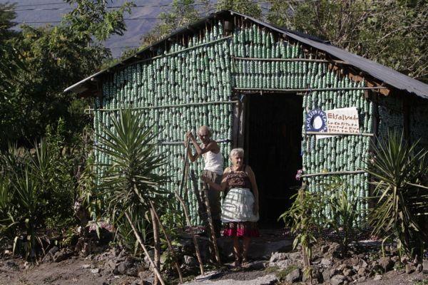 Dream home made from plastic bottles