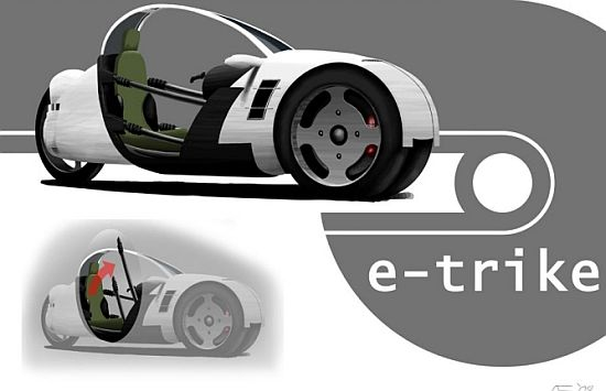 e trike concept electric vehicle by onno fridrich