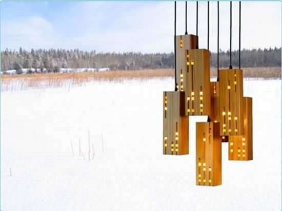 Beautiful and tranquil eco lights made out of green bamboo  Ecofriend