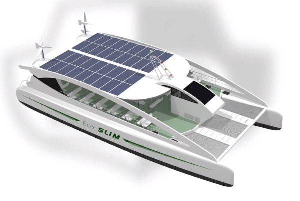 Eco Slim: Eco friendly catamaran relies on renewable ...